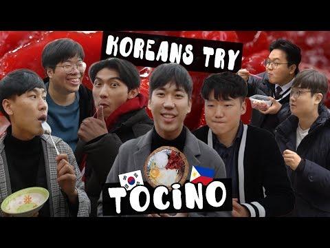 Ang reaksyon ng mga Koreano sa Tocino!