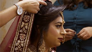 Beautiful traditional Indian bride getting ready for her wedding