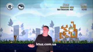 Игра Angry Birds на аттракционе Kinect Show