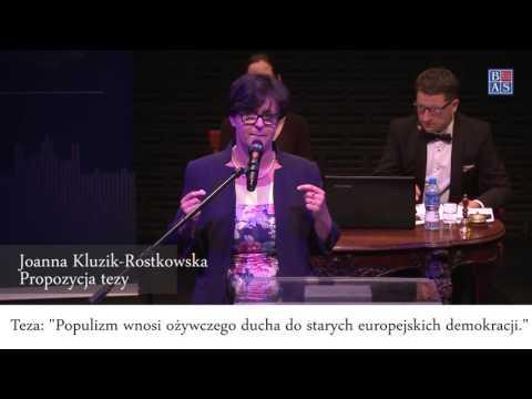 Populizm ozywia demokracje 5 Joanna Kluzik Rostkowska