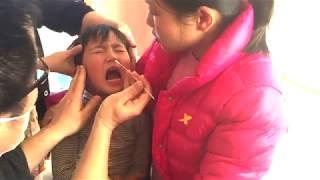 インフルエンザの検査を受ける3歳のトレーシー×3回 ★3 years old tested for influenza★ thumbnail