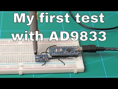 Audio Range Sweep Generator - My First test with AD9833