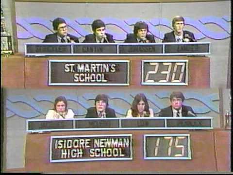 Varsity Quiz Bowl - 1980-1981 Isidore Newman vs St. Martin
