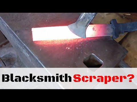 Forging a Blacksmith Scraper // Blacksmith Scale Brush Alternative