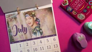 Gift Idea! BTS DIY Calendar! under $2 مترجم