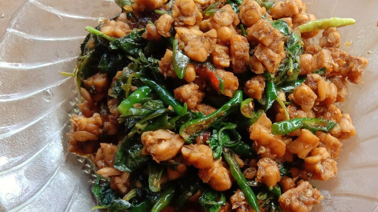 Resep Masakan dari Tempe- Orek tempe basah Daun Kemangi - YouTube