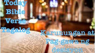 BIBLE VERSE TAGALOG | KARUNUNGAN AT PAG GAWA NG DESISYON | 10-20-2020