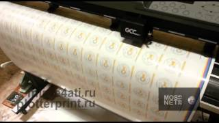 Интерьерная печать и контурная резка(Печать на пленке ораджет 3640 наклейки на каску., 2015-03-24T10:06:01.000Z)