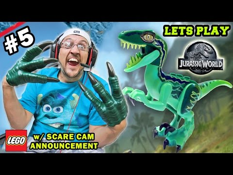 Lets Play LEGO Jurassic World Part 5: TOO MUCH 💩 IN THE VISITOR CENTER! (Scare Cam Announcement)