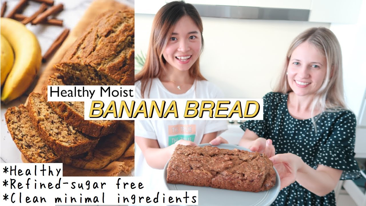 Download HEALTHY MOIST BANANA BREAD | Easy, Refined Sugar Free & Clean Eating | LAMHEATHER