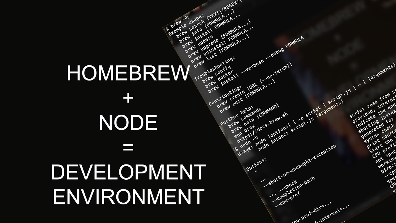Installing Homebrew and Node - Setting up a Web Development Environment on  Your Computer