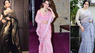 Kangana ranaut saree collections ll Most beautiful saree of Bollywood actress