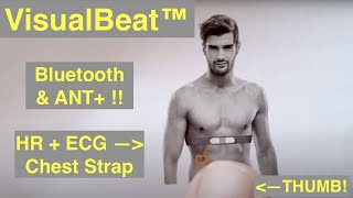 Wellue VisualBeat™ Wearable Heart Rate ECG/EKG Chest Strap both ANT+ and Bluetooth: Quick Overview