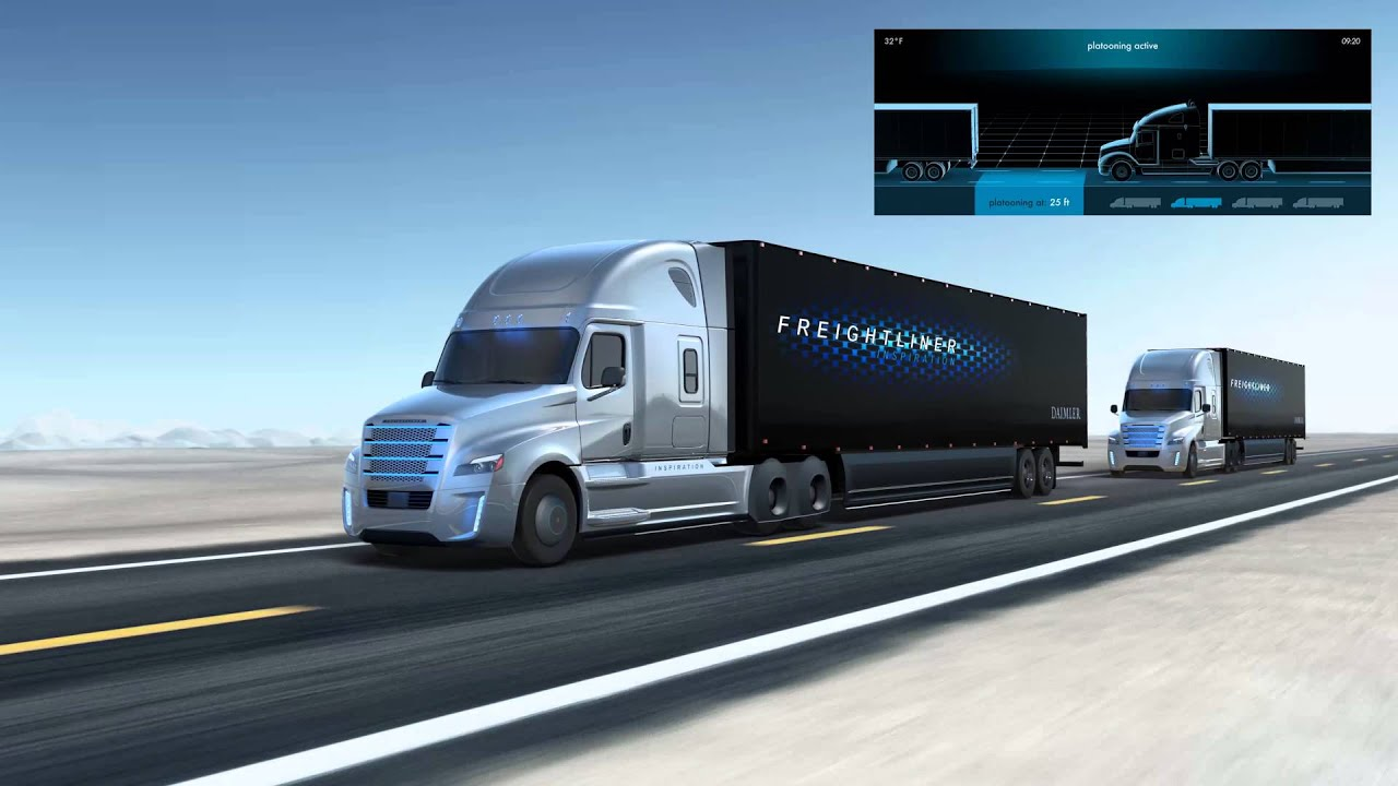 Freightliner Inspiration Truck - Platooning Technology - YouTube