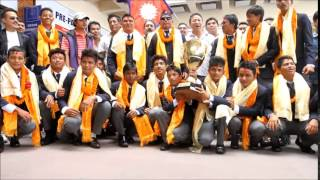 Nepal U16 Cricket Team Celebrating ACC U16 Premier League in TIA