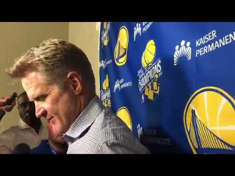 Steve Kerr opens presser with some words on the late Tex Winter calls him one of the most influentil