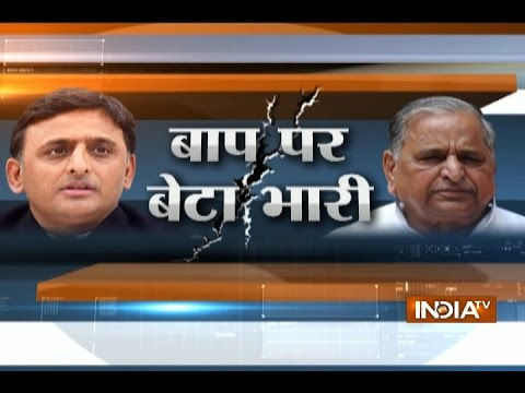 SP Split: Akhilesh along with Azam Khan Meets Mulayam Singh Yadav