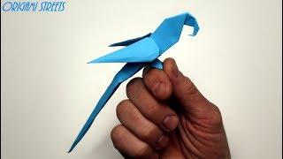 Как сделать попугая из бумаги. Оригами попугай из бумаги.