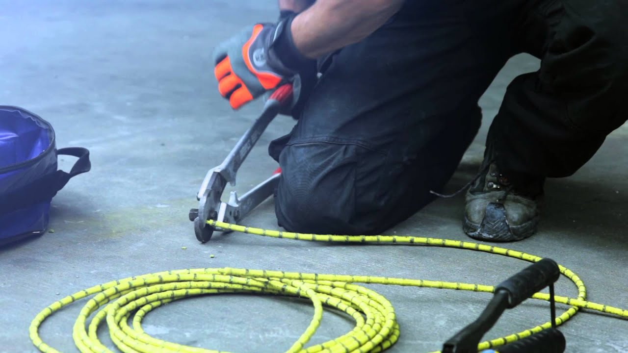 Connection procedure for construction diamond wire by Husqvarna ...