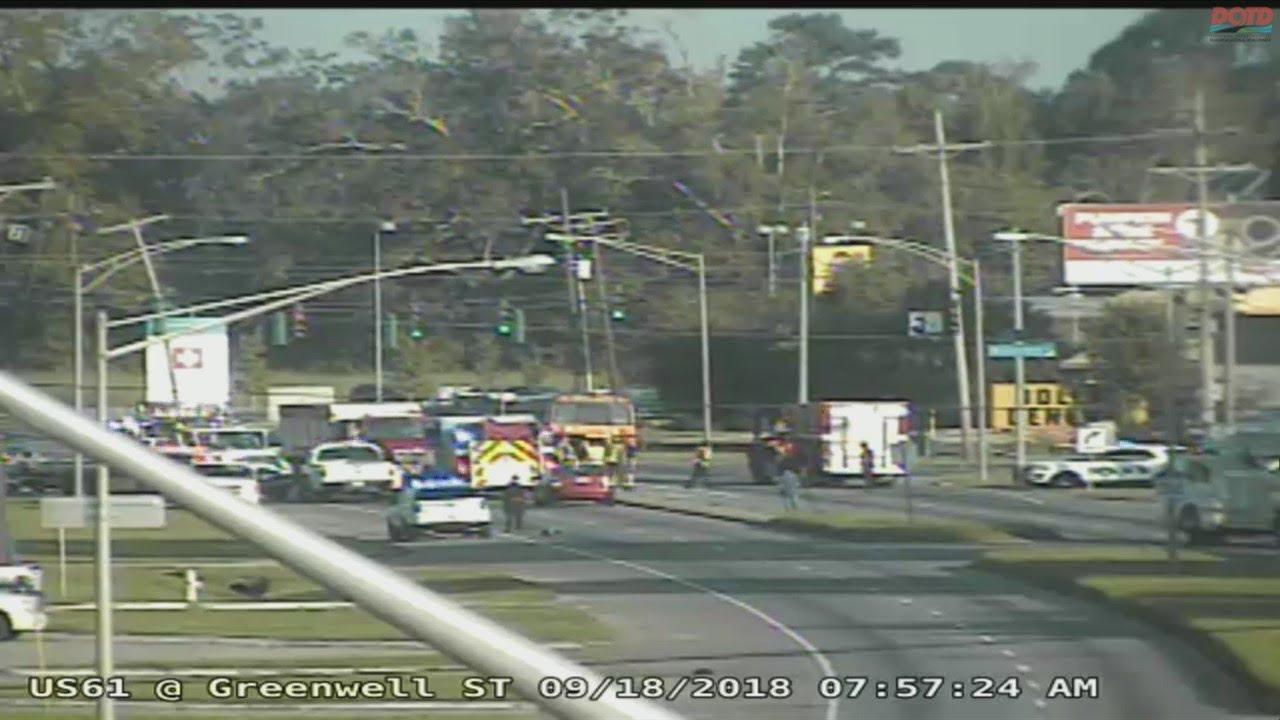 Fatal accident involving school bus on U S 190 1