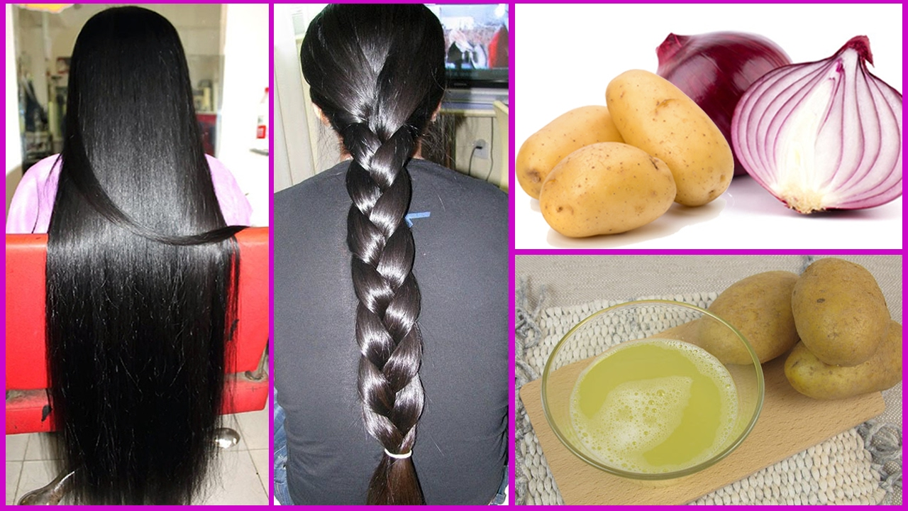 onion and potato juice for hair
