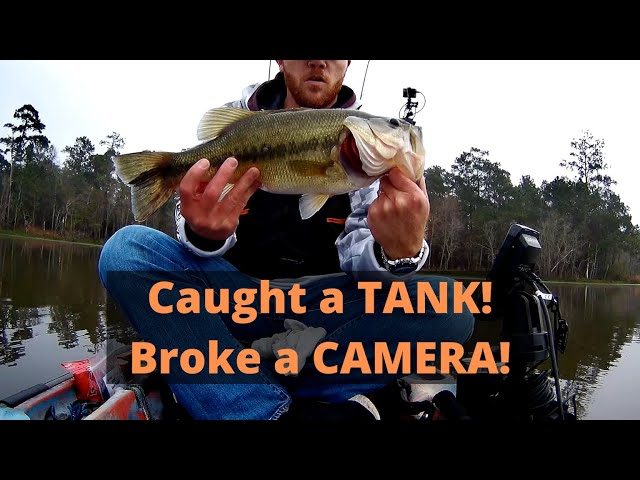 Caught a TANK! And broke a camera! Kayak fishing Bear Branch Reservoir with my buddy Austin.