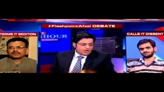 arnab goswami excellent reply to umar khalid