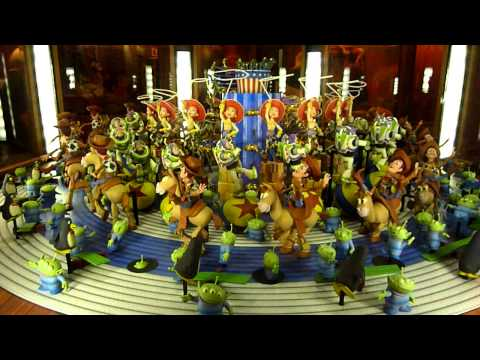 Disneyland California Adventure Toy Story 3D Animation Zoetrope In HD