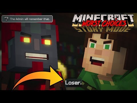 CALLING THE ADMIN A LOSER! -- MEAN/ WORST CHOICES Minecraft Story Mode : Season 2 Ep. 5 (#2)