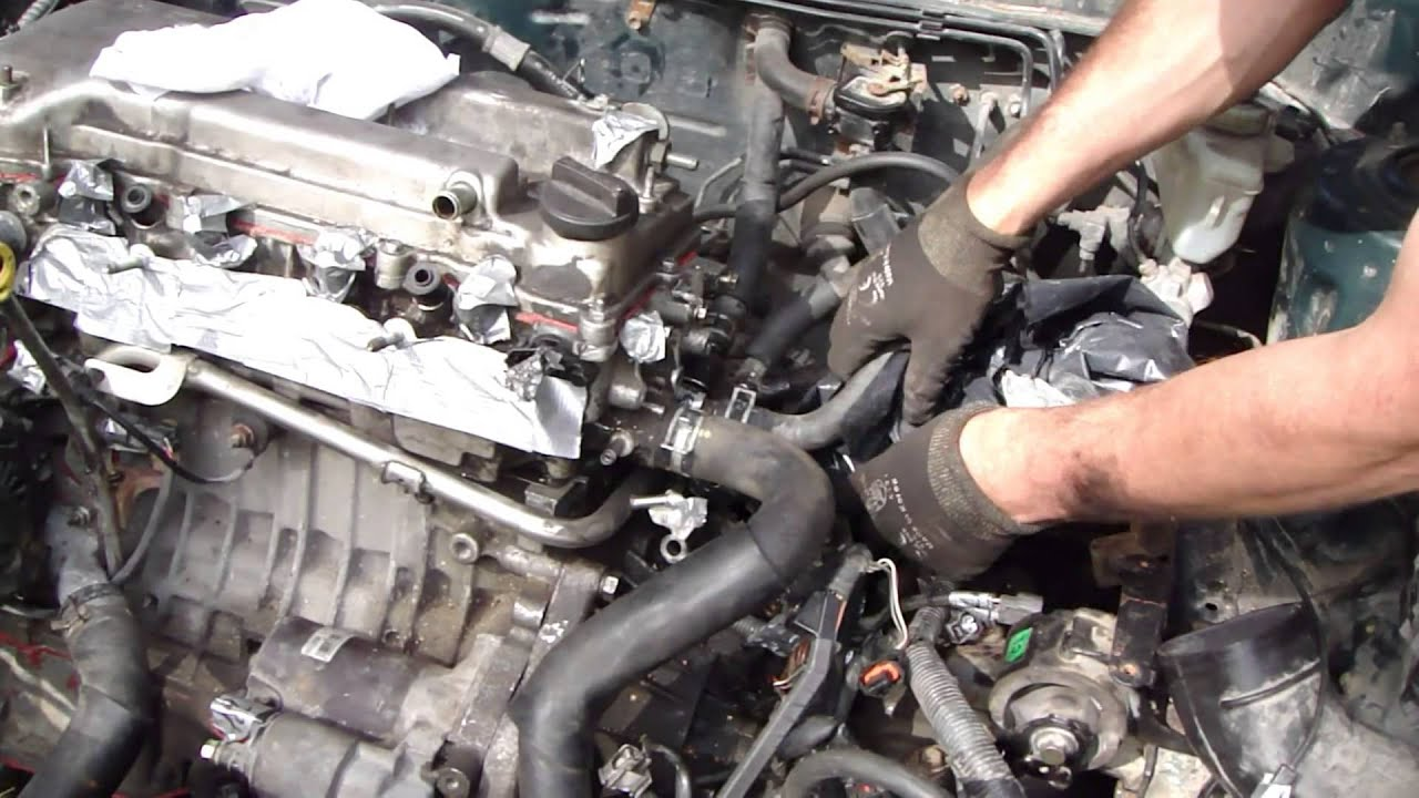 how to replace engine toyota corolla vvt i part 47 52 hoses assembly and connection back 2005 Toyota Corolla Vvt I Engine Diagram
