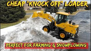 I bought a Cheap Knock-Off loader for plowing snow!  *(but it'd be great for farm work)
