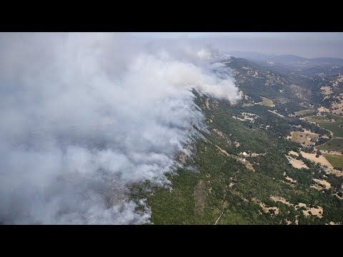 View from the sky reveals California wildfires devastation
