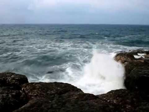 Bağırganlı sahilinde dev dalga