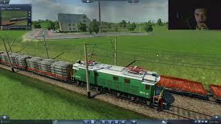 Transport Fever-обзор мода электровоз ВЛ19+Вагон Платформа-лесовоз 1933 года