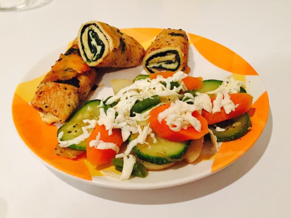 Rollitos de pechuga con espinacas y queso recetas f ciles - Comidas ricas sanas y faciles ...