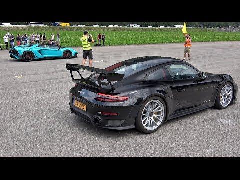 Porsche 991 GT2RS vs Lamborghini Aventador LP750 SV
