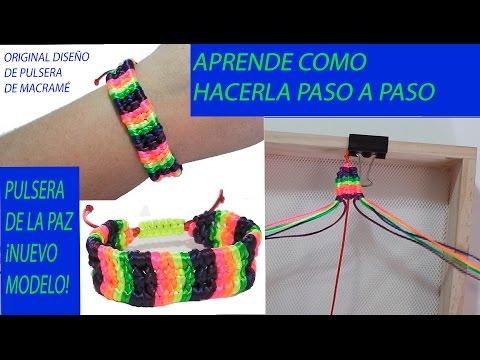 46ba9d679924 como hacer pulseras de nudos de hilo pulseras con nudos de macrame  manualidades faciles para regalar