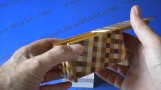 3 Sun 4 Step Ichimatsu Japanese Puzzle Box - Easy To Solve!