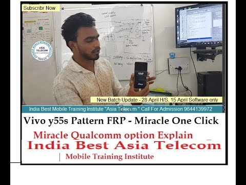Vivo Y55s (1610) Pattern Pin Unlock by Miracle 1Click 2second|Miracle Qualcomm Explain - India No.1