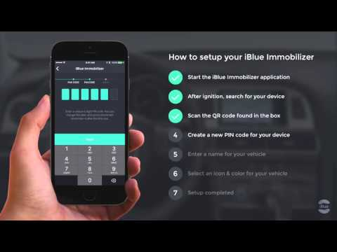 How do I set up my iBlue Immobilizer device? (iOS) - iBlue