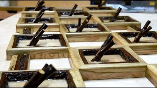 Wooden Wall-Mounted Coat Rack