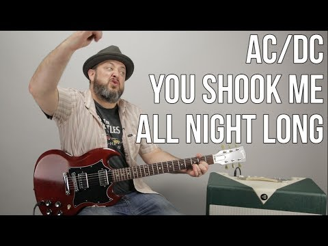 How to Play You Shook Me All Night Lg  ACDC  Guitar  Guitar Less