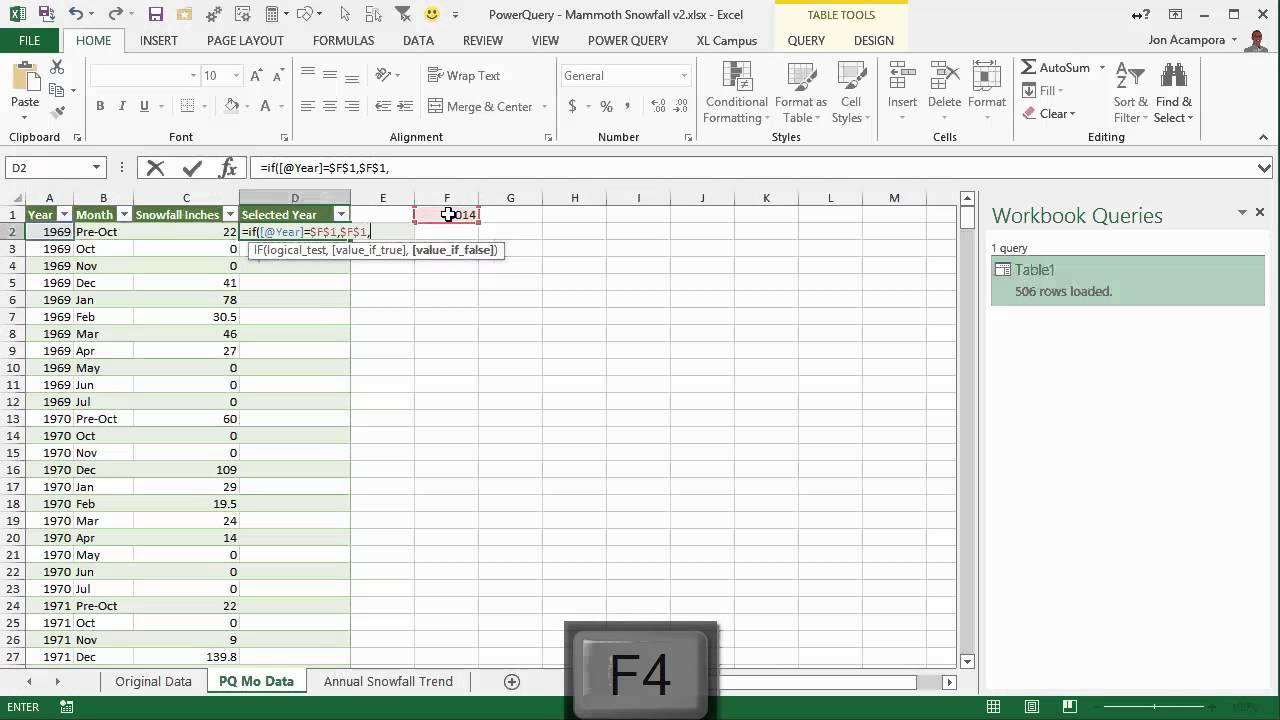 Use Pivot Tables to Create Montlhly Average vs Current Year Chart in Excel