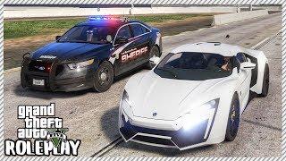 GTA 5 Roleplay - Lykan Hypersport Drag Racing Police Car   RedlineRP #188