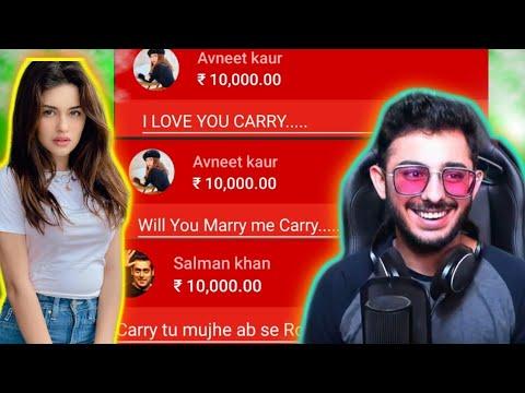 CarryMinati Got a Super chart from Avneet kaur |  Super chart from salman bhai |  Superchart?