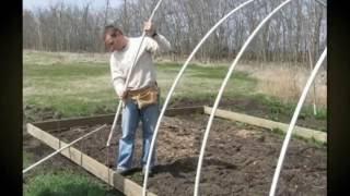 видео Самодельный парник из пластиковых труб, как сделать