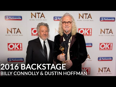 Billy Connolly & Dustin Hoffman Backstage at the 2016 NTAs