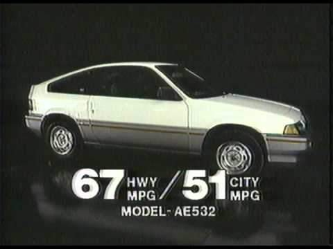 1984 Honda Civic CRX Commercial - YouTube