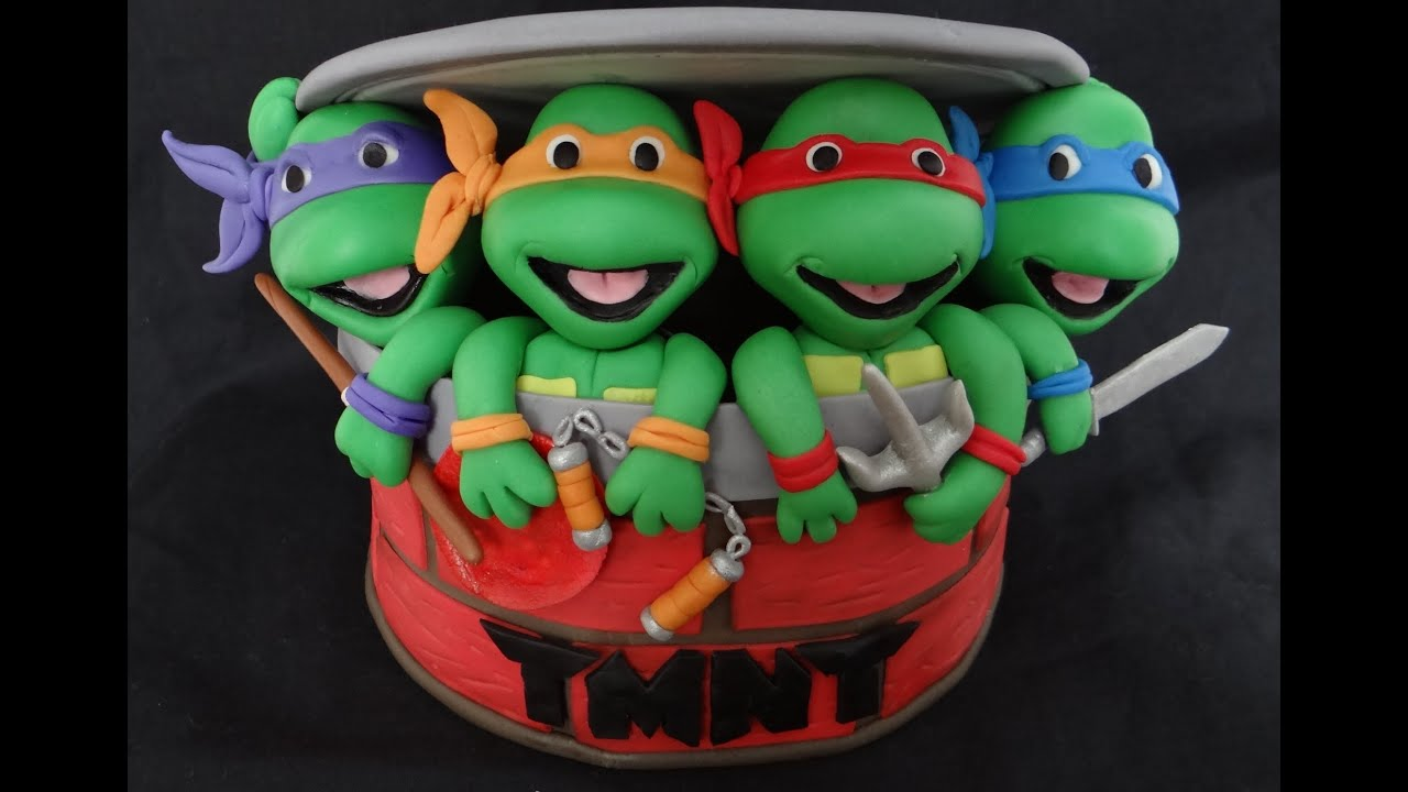 How To Make Fondant Ninja Turtles YouTube
