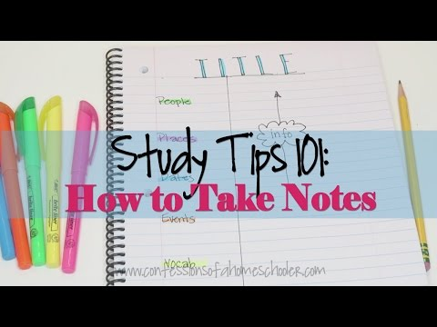 Study Tips #1: How to Take Effective Notes
